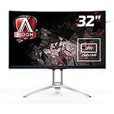 """AOC AG322QCX 31.5"""" Quad HD MVA Noir, Argent écran plat de PC - écrans plats de PC (80 cm (31.5""""), 300 cd/m², 2560 x 1440 pixels, 4 ms, LCD, Quad HD)"""