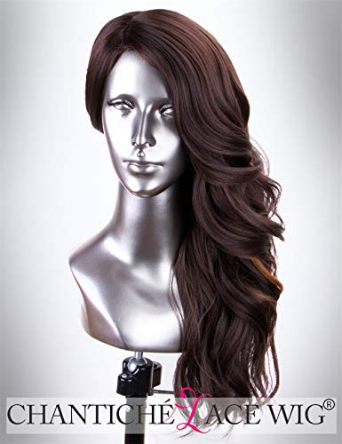 Black Hair Blonde Highlights (Chantiche Wavy Brown Wig with Blonde Highlights Glueless Synthetic Wig Heat Resistant 18 Inches)