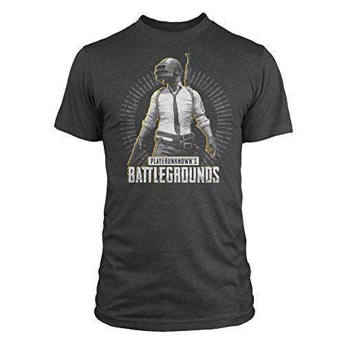 Playerunknown's Battlegrounds PUBG - Level 3 Camiseta Azul Marino Jaspe XXL