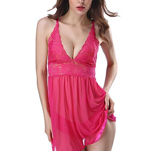 TianWlio Damen Dessous Nachtwäsche Mode Sexy Frauen Verführung Mesh Spitze Polychromatische Multi - Code Sexy Dessous Set