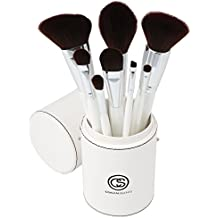 Coastal Scents Creme de la Creme Makeup Brush Set, 8 Elegant Cosmetic Brushes