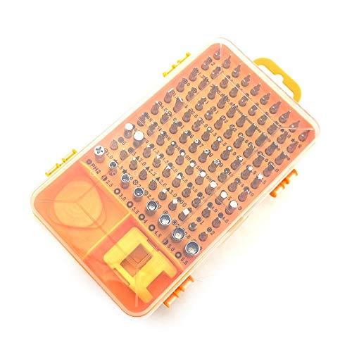 XuLiuMi Destornillador eléctrico Envío gratis Juego de destornilladores Reloj multifunción Herramienta de reparación de desmontaje móvil Multifunción Acero al cromo vanadio, 1101-Amarillo
