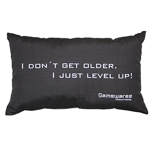 Gamewarez Cuscino I don´t get older. I just level up! per Soggiorno e Stanza da Letto (grigio 30x50 cm) Cuscino da Viaggio/Travel Pillow Made in Germany