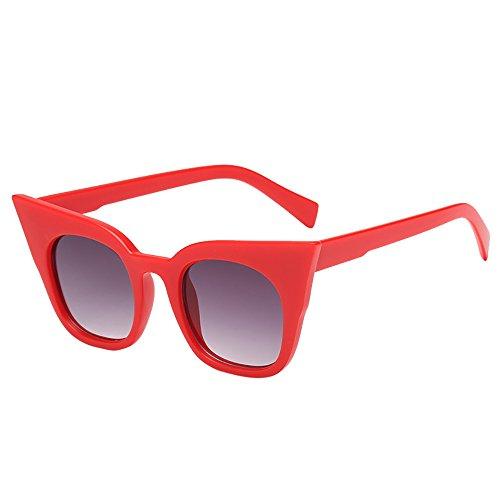 Battnot☀ Sonnenbrille für Damen Herren, Unisex Vintage Katzenaugen Frame Mode Rapper Shades Anti-UV Gläser Sonnenbrillen Schutzbrillen Männer Frauen Retro Billig Cat Eye Sunglasses Women Eyewear