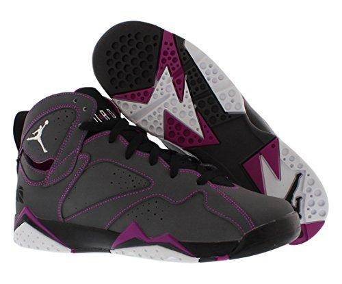 Nike Air Jordan 7 Retro 30th Gg, Chaussures de Running Entrainement Femme Multicolore - Gris / Blanco / Negro / Rosa (Dark Grey / White-Blck-Fchs Flsh)