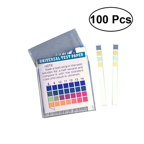 UEETEK 100pcs Labs pH-Teststreifen Papiere zur Prüfung von Alkali- und Säuregehalt (pH: 1-14) (Ph-papier-teststreifen Labor)