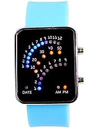 Eastlion Reloj de pulsera con iluminaci¨®n LED y correa negra