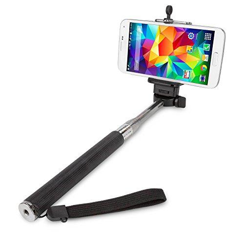BoxWave Corporation Selfiestick/Handstativ für Nokia Lumia 1020, zur Aufnahme von Selbstportraits, Schwarz (Jet Black)