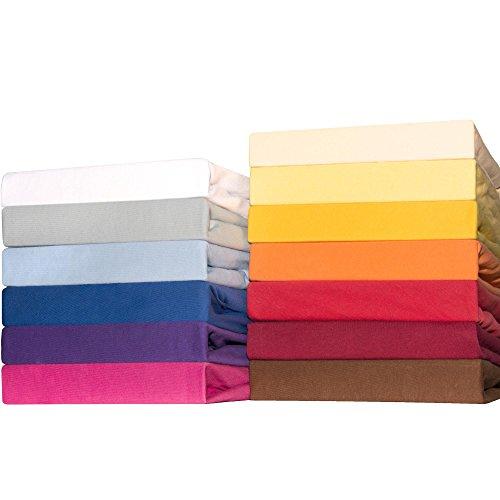 CelinaTex Lucina for Kids Baby Spannbettlaken 2er-Set 60x120 - 70x140 Mais gelb Jersey Baumwolle Spannbetttuch Doppelpack Kinder Matratze