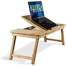 Aleratec bambú natural portátil Soporte ajustable de hasta 15 pulgadas de la tableta de lectura Tabla Desk