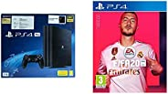 Sony PS4 PRO 1TB Console with Death Stranding Pasted Outside box & FIFA 20 (