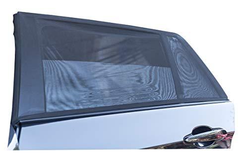 2x Premium Sonnenschutz Sonnenblende für Auto mit Klettbändern | 95% UV-Schutz