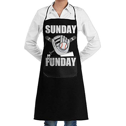 Kailey hello I Am A Baseball Fan Aprons Kitchen Chef Bib Aprons Gift Apron Professional for Grill,BBQ,Baking,Cooking for Men Women,with Front Pockets,Black
