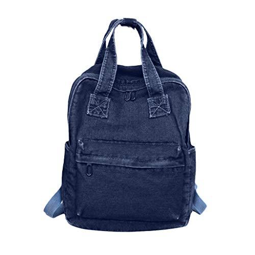 VJGOAL Rucksack Damen Schultasche Umhängetasche Handtasche Freizeit Einfarbig Cowboy Verstellbarer Schultergurt für Taschen (Sport Nuss Kostüm)