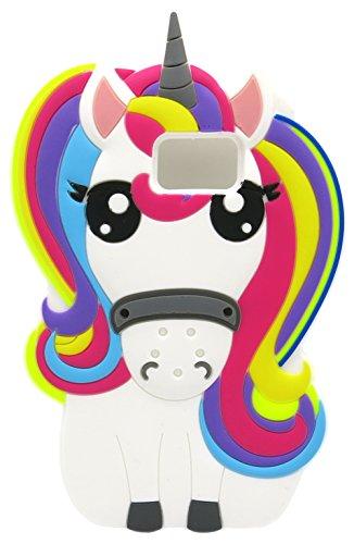 Fundas Samsung S7 Edge Silicona Unicornio, Carcasas Samsung S7 Edge Silicona Unicornio, Funda de Silicona Animales Suave Unicornio 3D para Fundas Samsung Galaxy S7 Edge Carcasas Dibujos Animados