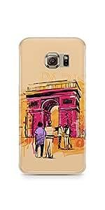 Casenation Paris Colour Sketch Samsung Galaxy S6 Edge Soft Case
