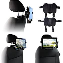 Navitech In Car Headrest Back Seat Black Expandable Firm Grip Mount Cradle For The Asus Transformer Book T100taf Asus Transformer T100 Asus Transformer T100ta Asus Transformer T100ha Asus Transformer Book T200ta Asus T100 Chi Asus T300 Chi Asus Transformer Book Tf103 T103 Zd300c