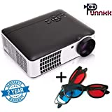 Punnkk P9 3500lumens Full HD Projector 1080P ( 1920 X 1080 ) LED LCD Home Theater 3D Projector With 3D Glasses/Spectacles