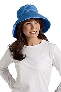 coolibar Gilet solaire UPF 50Plus quotidien Bonnet en coton -  bleu - Taille Unique