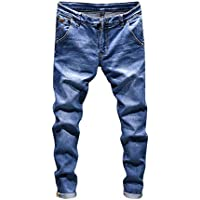 Herren Hose Ronamick männer lang Trainingshose Slim fit Freizeithose Jeans Sporthose Jogginghose Sweatpants Winter Trousers Warm Sporthose Sweatpants(32, Hell blau)