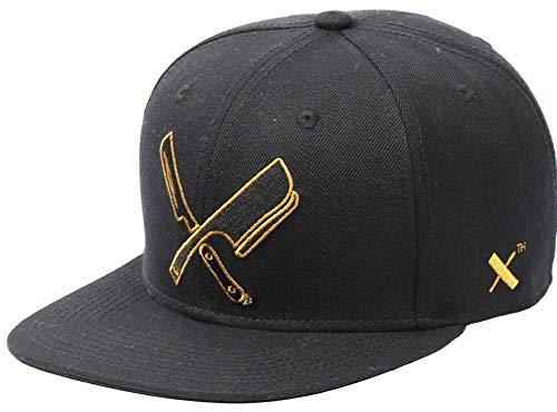 Preisvergleich Produktbild Distorted People Barber & Butcher Decade Line Blades Black Gold Snapback Cap Basecap OSFA One Size