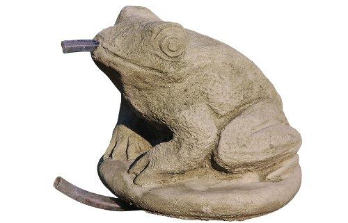 Wasserspeier Frosch, Tierfigur aus Steinguss, Frostfest, Kröte