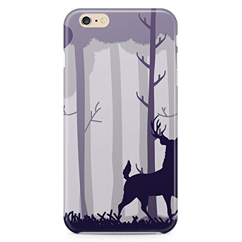 Cerf dans une forêt Apple iPhone 6 Plus 5S 5 C 5 4 iPod et plus, plastique, violet, Apple iPhone 4/4s