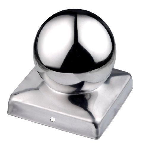 Connex HV4322 - Cappello per pilastri a sfera in acciaio INOX V2A anticorrosione, 70 x 70 mm
