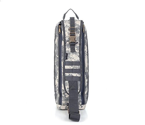 F@Nylon impermeabile outdoor trekking camuffare Kit, Digital Camo tactical borsa a tracolla, borsa Messenger nera, campeggio sacco bivy bag , khaki city number