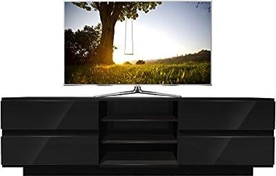 Centurion Avitus Gloss Black Designer Stand upto 65inch Flat Screen LED and LCD TV Cabinet