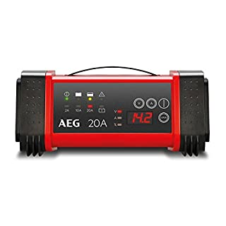 Aeg Automotive 97025 Microprocessor Charger LT 20 Amp 12 V and 24 V Batteries, 9 2/3, Power Supply and Automatic Temperature Compensation LT20