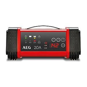 AEG Automotive 97025 Cargador con microprocesador LT de 20 amperios para baterías de 12 y 24 V, 9 Niveles, alimentación y compensación automática de Temperatura, LT20