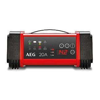 AEG Automotive 97025Microprocesador Cargador de LT 20A para baterías de 12y 24V, de 9niveles, Power Supply automático y temperatura Compensación, LT20