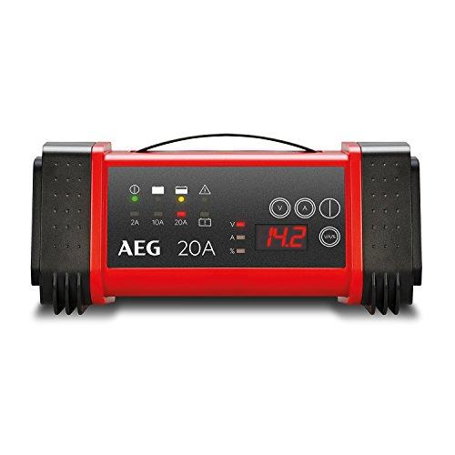 AEG Automotive 97025 Mikroprozessor-Ladegerät LT 20 Ampere für 12 und 24 V Batterien, 9-stufig, Power-Supply und automatischer Temperaturausgleich, LT20