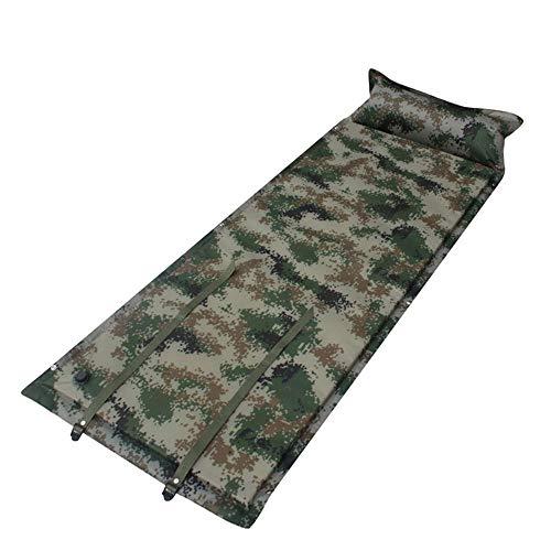 ILCD Aufblasbare Schlafmatte, Außen Tarnung automatische aufblasbare Isomatte Einzel Krieger Wilder Camouflage aufblasbare Kissen