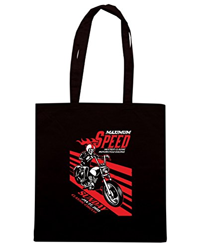 T-Shirtshock - Borsa Shopping TB0332 motorbike racing event in vintage and dirty texture Nero