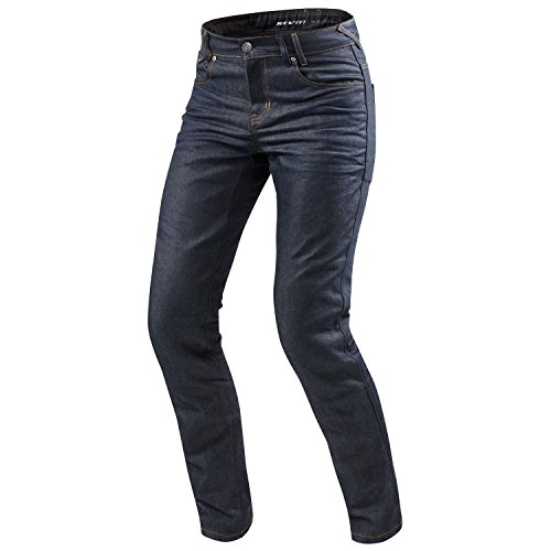REV'IT! LOMBARD 2 RF Herren Motorrad Jeans std/kurz/lang (dunkel blau, 34/34)