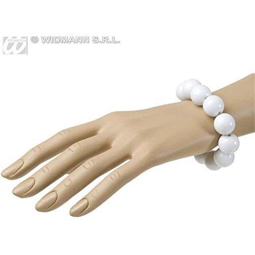 Geniales Perlenarmband in weiß im Stil der 50er bis 70er Jahre