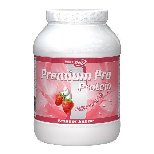 Best Body Nutrition Premium Pro, Erdbeer Sahne, 750 g Dose
