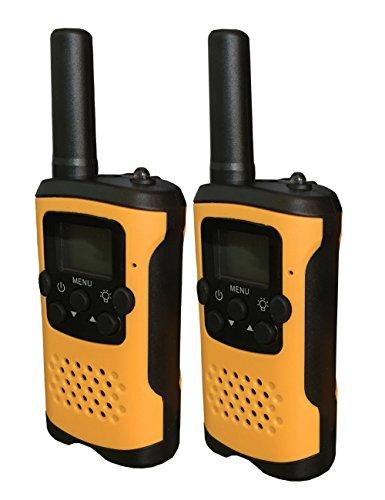 Generisch T48 Talkie Walkie 8 Kanäle 0.5W PMR 446 mit LC-Display Kinder(Orange)