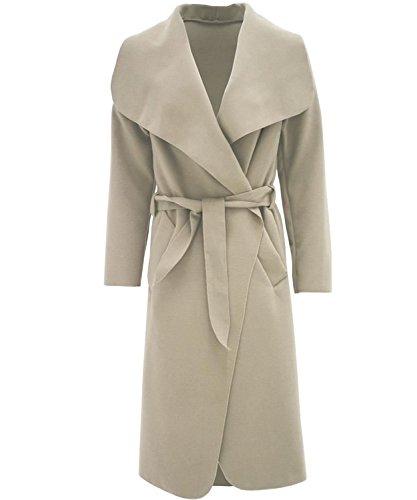 Belted Damen Trench Coat (Mix lot Damen, Frauen Kim Kardashian inspiriert Große Belted Trench Coat binden oben Steckte Jacket Größe One Size (One Size, Stein))