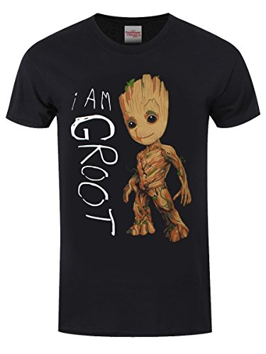 Guardians Of The Galaxy Herren T-Shirt I Am Groot schwarz
