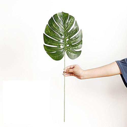 Demana 1 Stücke Tropische Palmblätter Simulation Blatt für Thema Partydekorationen Hawaiian Luau Party Dschungel Strand