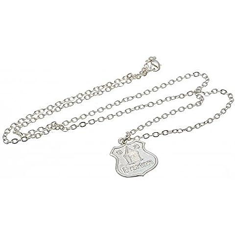 Idee regalo, con logo ufficiale Everton F.C., placcata in argento, con pendente e catena, un ottimo regalo per i tifosi - Logo Ufficiale Pendente Logo A Pendente