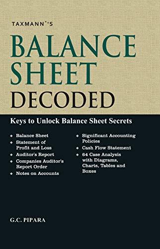 sale retailer 25bb9 a2e86 Balance Sheet Decoded-Keys to Unlock Balance Sheet Secrets by  G.C. Pipara