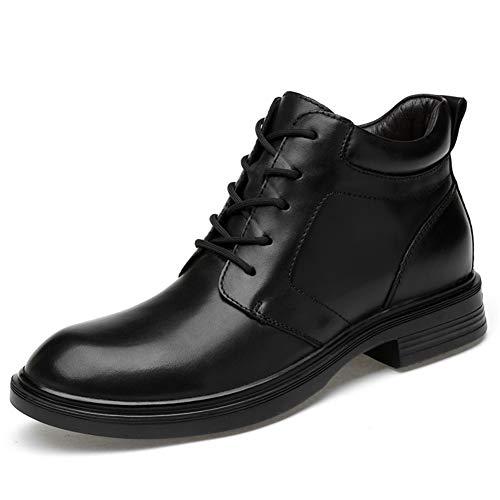 ailishabroy Casual Stiefeletten Männer Klassische Schnürschuhe Oxfords Hohe Schuhe für Herren Abrieb(Schwarz-Single 41EU) Wellington Magnum