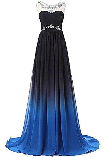 Gorgeous Bride Elegant Lang Rabbatte Chiffon Mehrfarbig Partykleider Brautjungfernkleider Abendkleider Festkleid Ballkleid Z-Style N
