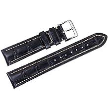 22 mm di lusso nero cinturini sostituzione pelle italiana /