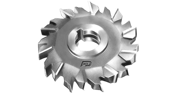 1 Arbor Hole 3//8 Width HSCO 3 Cutting Diameter 16 Teeth KEO Milling 80351 Staggered Tooth M42 Side Milling Cutter,DS Style TiAlN Coating
