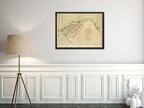Delaware Rivers Map (New York Map Company LLC 1776 Karte Delaware River A Chart of Delaware Bay and River, mit vollständiger und genauer Beschreibung und historischer antiker Vintage-Nachdruck, fertig zum Einrahmen)